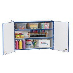 Jonti-Craft Rainbow Accents Lockable Wall Cabinet - Multiple Edge Colors