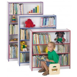 "Jonti-Craft Rainbow Accents Short 36""H Bookcase (Ready-To-Assemble) - Multiple Edge Colors"
