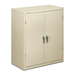 "HON Brigade Storage Cabinet, 2-Shelf, 36"" x 18¼"" x 41¾"", Putty"