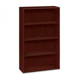 "HON 10700 Series 4 Shelf Bookcase, 36"" x 13⅛"" x 57⅛"", Mahogany"