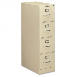 HON 310 Series 4-Drawer Vertical File, Letter, Putty