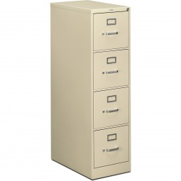 HON 510 Series 4-Drawer Vertical Letter File, Putty