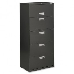 "HON Brigade Lateral Files, with Lock, 30"", Charcoal - 4 Heights Available"