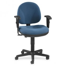 """Lorell Adjustable Task Chair, 24"""" x 24"""" x 33"""" to 38"""", Blue"""