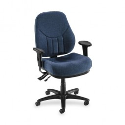 Lorell Baily MultiTask Chair, High-Back, Blue