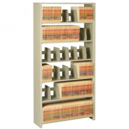"Tennsco Shelving 6-Shelf Starter Unit, 36"" x 12"" x 76"", Sand"