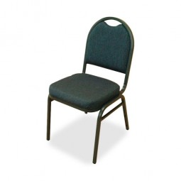 """Lorell Stack Chairs, 18"""" x 22"""" x 35½"""", 4/Carton, Blue/Black Fabric/Charcoal Frame"""