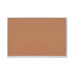 """Sparco Cork Board, ½"""" Thick, 3' x 2', Aluminum Frame, Brown"""