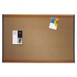 Quartet Bulletin Board, 3' x 2', Light Cherry Frame
