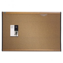 Quartet Cork Bulletin Board, 6' x 4', Maple Finish