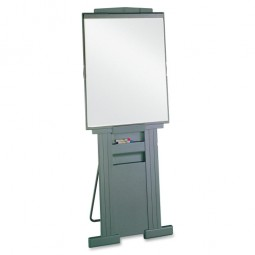 "Quartet Portable Easel, Adjusts from 39"" to 72"" High, Gray"
