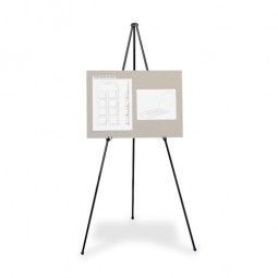 """Quartet Heavy Duty Easel, 15"""" to 63"""" High, Holds Up To 10 lb., Black"""