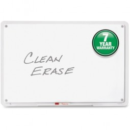 "Quartet Dry-Erase Board, Translucent Edge, with Marker, 11"" x 7"""
