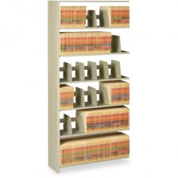"Tennsco Shelving 7-Shelf Add-on Unit, 48"" x 12"" x 88"", Sand"