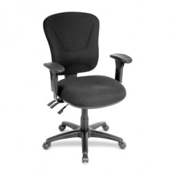 Lorell Accord Series Midback Task Chair, Black