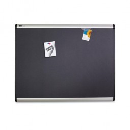 Quartet Magnetic Fabric Bulletin Board,with Magnets, 3' x 2', Aluminum frame