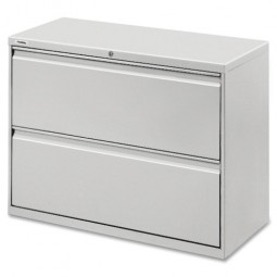 """Lorell Lateral File, 2 Drawer, 36"""" x 18⅝"""" x 28"""", Light Gray"""