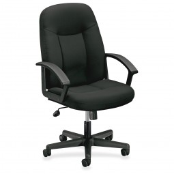 Basyx VL601 Managerial Mid-back Swivel Chair, Black