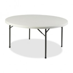 "Lorell Banquet Table, Round, 500 lb Capacity, 71"" x 71"" x 29¼"", Platinum"