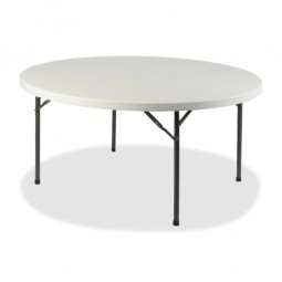 "Lorell Banquet Table, Round, 250 lb Capacity, 48"" x 48"" x 29¼"", Platinum"