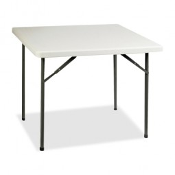 "Lorell Banquet Table, Square, 250 lb Capacity, 36"" x 36"" x 29"", Platinum"