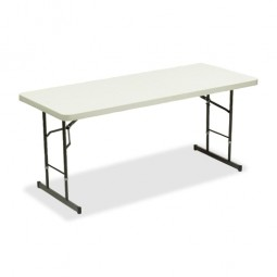 "Iceberg Folding Tables, Adjustable Height, 30"" x 72"" x 25"", Platinum"