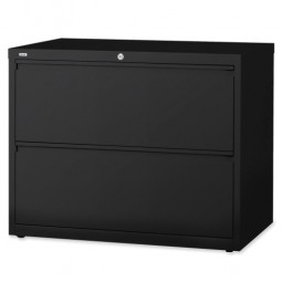 "Lorell Lateral File, 2-Drawer, 42"" x 18⅝"" x 28⅛"", Black"