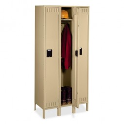 Tennsco Single Tier Locker, 3-Wide with Legs - Various Colors