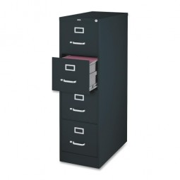 Lorell Vertical File, 4-Drawer, Legal, Black