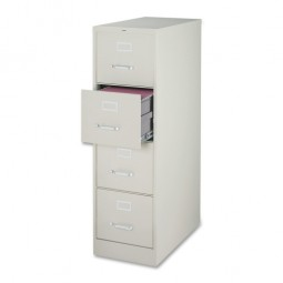 Lorell Vertical File, 4-Drawer, Legal, Light Gray