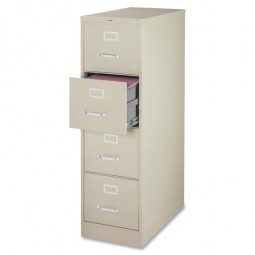 Lorell Vertical File, 4-Drawer, Legal, Putty