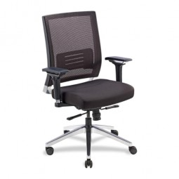 Lorell Executive Swivel Chair, Black Mesh/Fabric