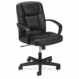 Basyx VL171 Series Executive Leather Swivel MidBack Chair