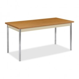 "HON Utility Table, 60"" x 30"" x 29"", Harvest/Putty"