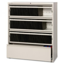 """Lorell Lateral File, RCD, 4 Drawer, 42"""" x 18⅝"""" x 52½"""", Putty"""