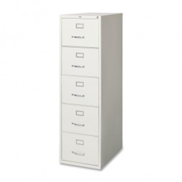 Lorell Vertical File, 5-Drawer, Legal, Light Gray