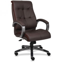 Lorell Classic Executive Leather Chair, Classic - Various Colors