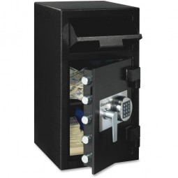 "Sentry Depository Safe, 5 LiveLocking Bolts, 14"" x 15⅗"" x 27"", Black"