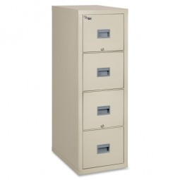 FireKing Patriot Series Fire Proof 4 Drawer Vertical Legal File, Parchment