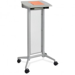 "Safco Impromptu Lectern, 26½"" x 18¾"" x 46½"", Gray"