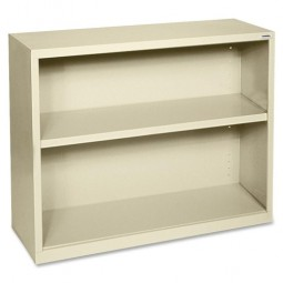 "Lorell Steel Bookcase, 2-Shelf, 34½"" x 13"" x 30"", Putty"