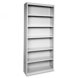 Lorell Steel Bookcase, Light Gray - Multiple options
