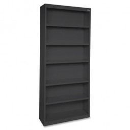 Lorell Stell Bookcase, Multi Shelves, Black - Multiple options