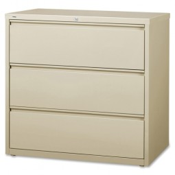 "Lorell Lateral File, 3-Drawer, 42"" x 18⅝"" x 40¼"", Putty"