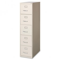 Lorell Vertical Files Cabinet, Letter, Putty - Multiple options