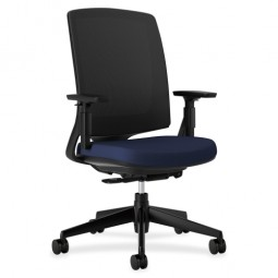 HON Lota Series Mesh Back Work Chair, Navy/Black Frame