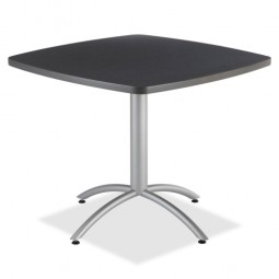 """Iceberg CafeWorks Cafe Table, 36"""" Square, 36"""" x 30"""", Graphite"""