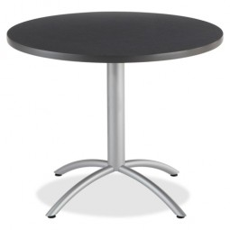 "Iceberg CafeWorks Cafe Table, 36"" Round, 36"" x 30"", Graphite"
