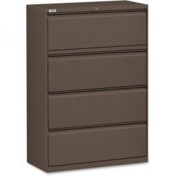 "Lorell Lateral File, 4-Drawer, 42"" x 18⅝"" x 52½"", Medium Tone"
