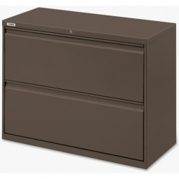 "Lorell Lateral File, 2-Drawer, 42"" x 18⅝"" x 28⅛"", Medium Tone"